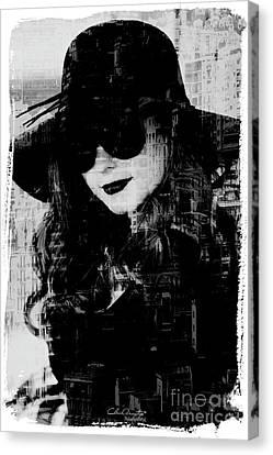 Monaco Woman Canvas Print