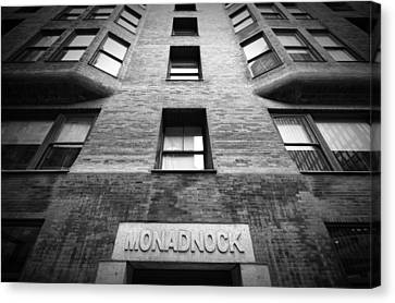 Monadnock Building Canvas Print by Mike Burgquist