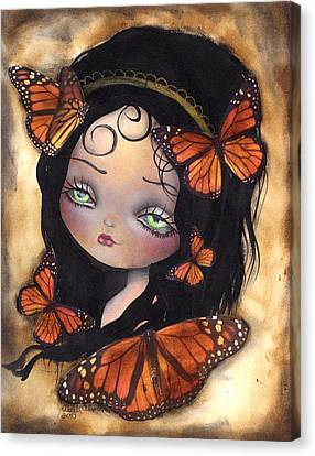 Monarca Canvas Print by  Abril Andrade Griffith