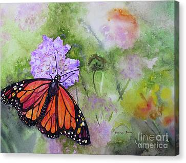 Monarch Butterfly Canvas Print by Bonnie Rinier