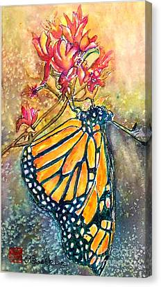 Monarch In The Morning Canvas Print by Norma Boeckler