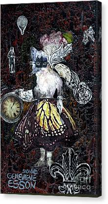 Monarch Steampunk Goddess Canvas Print by Genevieve Esson