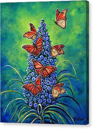 Monarch Waystation Canvas Print by Gail Butler