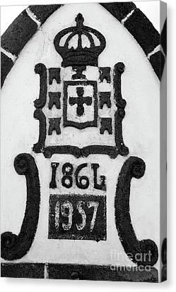 Monarchy Symbols Canvas Print by Gaspar Avila