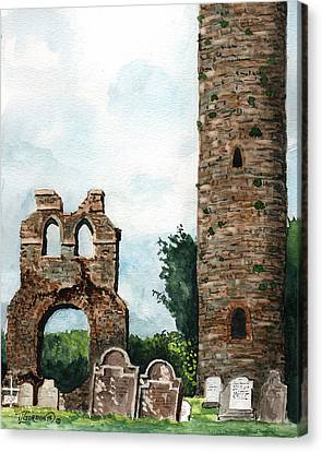 Monasterboice Ruins Ireland Canvas Print by Timithy L Gordon