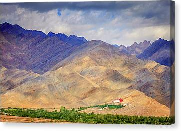 Canvas Print featuring the photograph Monastery In The Mountains by Alexey Stiop