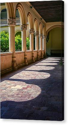 Cloistered Canvas Print - Monastery Of St Jerome by Joan Carroll