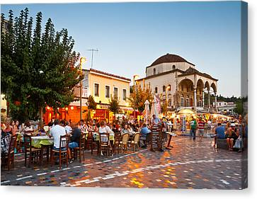 monastiraki sq. 'V Canvas Print
