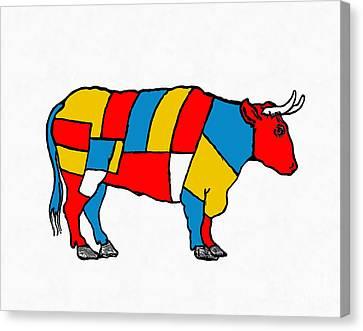 Mondrian Cow Canvas Print by Edward Fielding