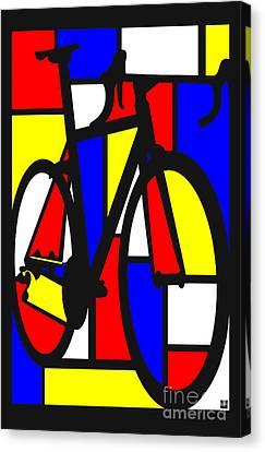 Canvas Print - Mondrianesque Road Bike by Sassan Filsoof