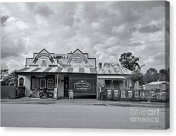 Canvas Print featuring the photograph Monegeetta General Store by Linda Lees