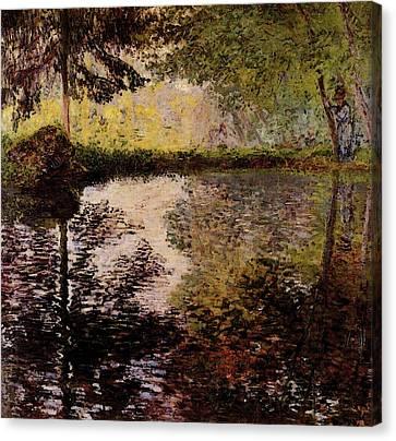 Monet Claude Pond At Montgeron Canvas Print