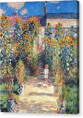 Monet: Garden/vetheuil Canvas Print