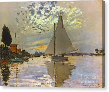 Gennevilliers Canvas Print - Monet: Sailboat by Granger