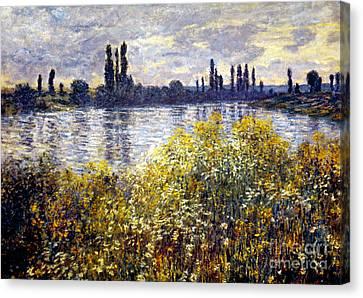 Monet: Seine/vetheil, 1880 Canvas Print by Granger