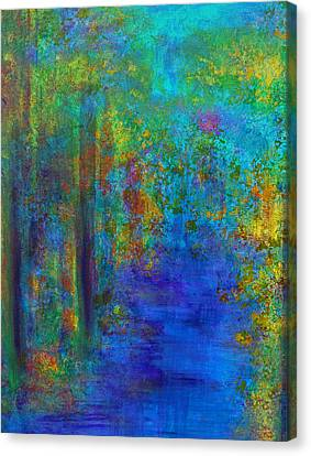 Canvas Print featuring the painting Monet Woods by Claire Bull