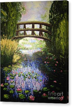 Monet's Bridge Canvas Print