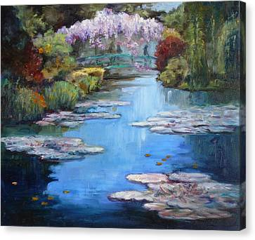 Monet's Garden In Giverny Canvas Print by Irek Szelag