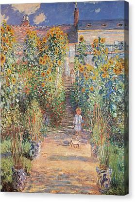 Monets Garden In Vetheuil Canvas Print