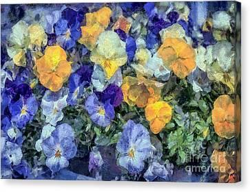 Monet's Pansies Canvas Print