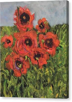 Monet's Poppies Canvas Print by Michael Helfen
