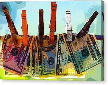 Money Laundering  Canvas Print by Karon Melillo DeVega