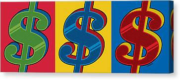 Canvas Print featuring the digital art Money Money Money by Ron Magnes