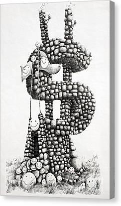 Money Monument Canvas Print by James Williamson