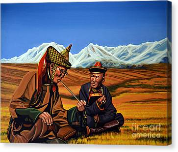 Mongolia Land Of The Eternal Blue Sky Canvas Print by Paul Meijering