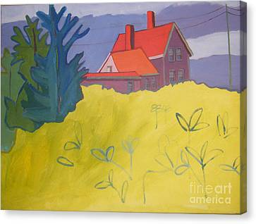 Monhegan Light Canvas Print by Debra Bretton Robinson