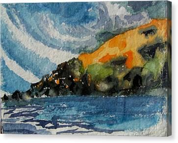 Monhegan Sky Canvas Print by Patricia Bigelow