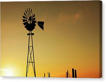 Monitor Silhouette Canvas Print by Todd Klassy