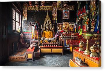 Kathmandu Monk Canvas Print