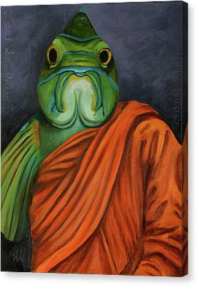 Canvas Print featuring the painting Monk Fish by Leah Saulnier The Painting Maniac