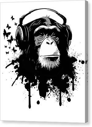 Chimpanzee Canvas Print - Monkey Business by Nicklas Gustafsson