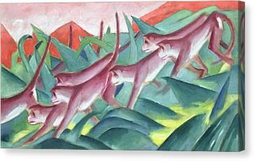Monkey Frieze Canvas Print