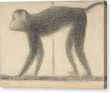 Seurat Canvas Print - Monkey by Georges-Pierre Seurat