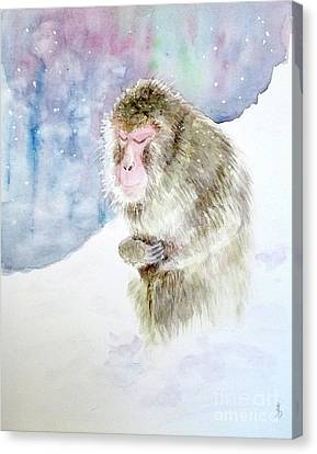 Monkey In Meditation Canvas Print