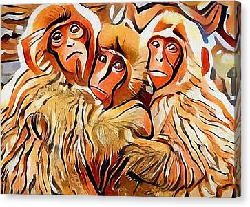 Monkey Selfie Canvas Print by Yury Malkov
