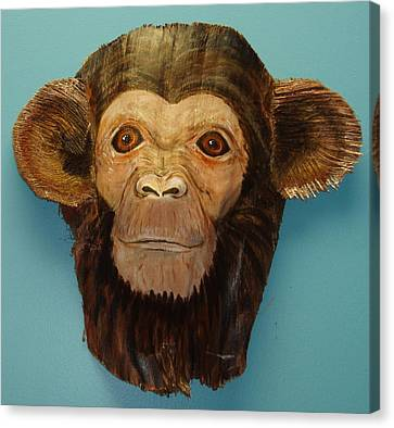 Monkey Time Canvas Print by Ellen Burns