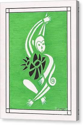 Monkeying Around -- Whimsical Stylized Monkey Canvas Print