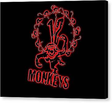 Monkey Canvas Print - Monkeys by Mery Moon