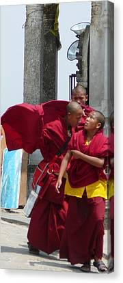Monks' Reality Check  Canvas Print by Dagmar Batyahav