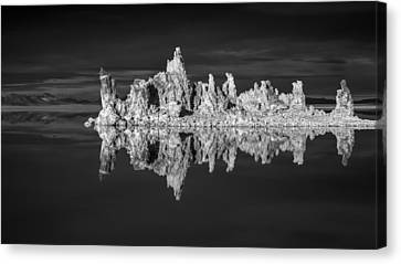 Mono Lake In Monochrome Canvas Print