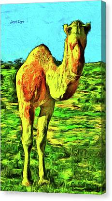 Camel Canvas Print - Monocamel by Leonardo Digenio