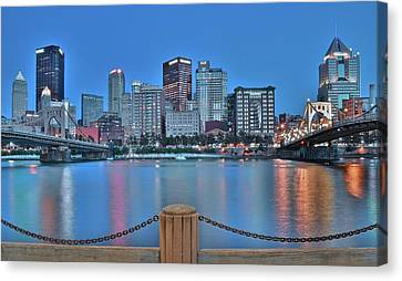 Upmc Canvas Print - Monochrome Blue by Frozen in Time Fine Art Photography