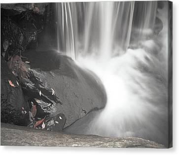 Monochrome Falls Canvas Print by Jim DeLillo
