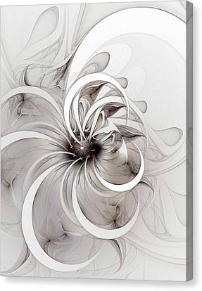 Monochrome Flower Canvas Print by Amanda Moore