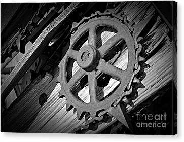 Canvas Print - Monochrome Gear Wheel by Chalet Roome-Rigdon
