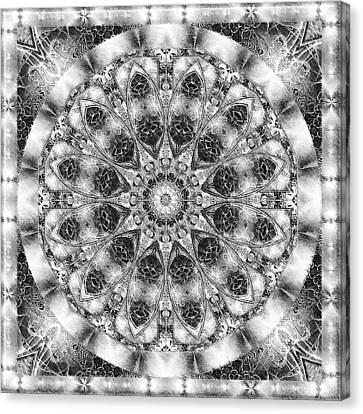 Monochrome Kaleidoscope Canvas Print by Charmaine Zoe